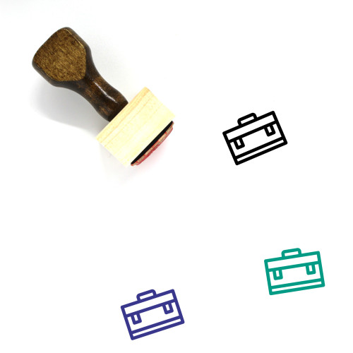Bags Wooden Rubber Stamp No. 112