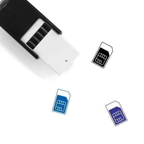 SIM Card Self-Inking Rubber Stamp No. 50