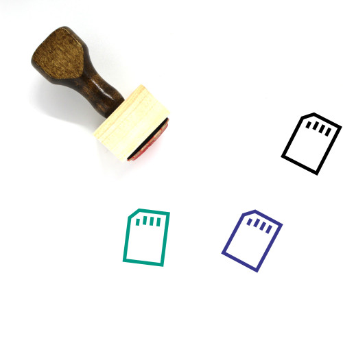 Memory Card Wooden Rubber Stamp No. 86