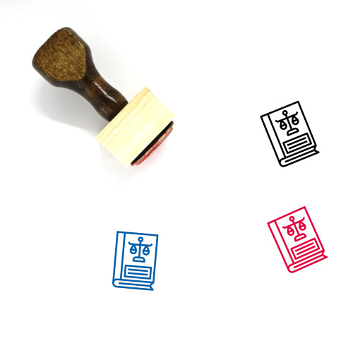 Law Book Wooden Rubber Stamp No. 34