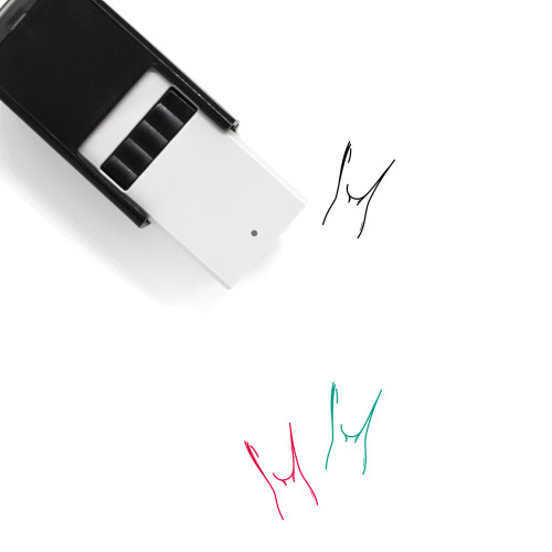 Knee Self-Inking Rubber Stamp No. 19