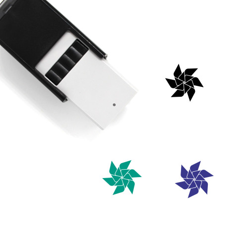 Paper Windmill Self-Inking Rubber Stamp No. 10