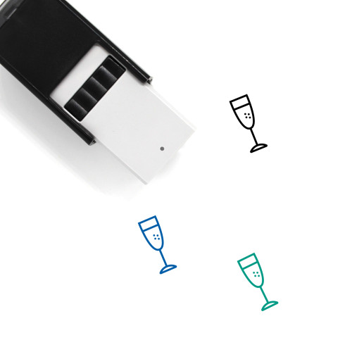 Champagne Glass Self-Inking Rubber Stamp No. 39