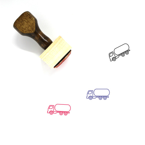 Water Truck Wooden Rubber Stamp No. 2