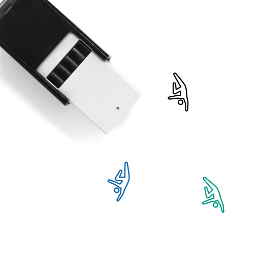 Breakdance Self-Inking Rubber Stamp No. 1