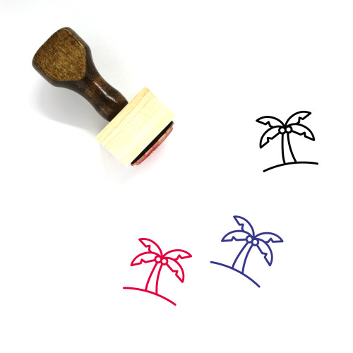 Palm Wooden Rubber Stamp No. 164