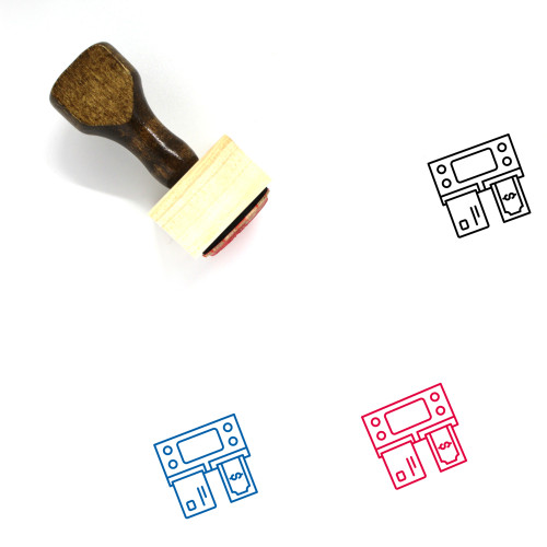 Automated Teller Machine Wooden Rubber Stamp No. 2
