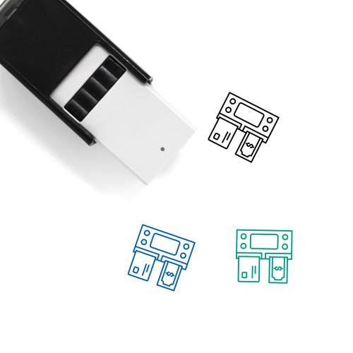 Automated Teller Machine Self-Inking Rubber Stamp No. 2