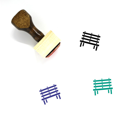 City Bench Wooden Rubber Stamp No. 4