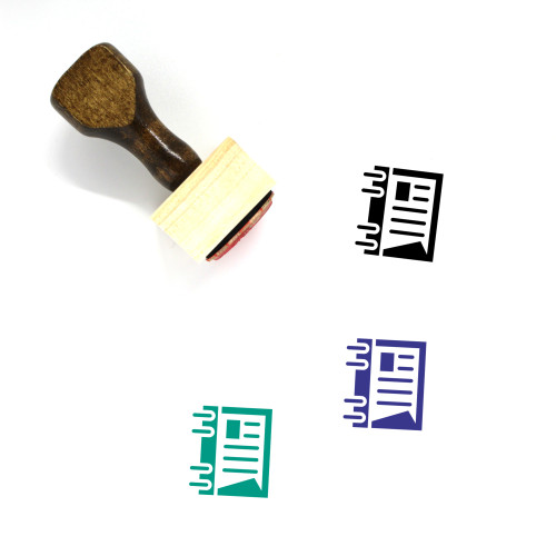 Notebook Wooden Rubber Stamp No. 103
