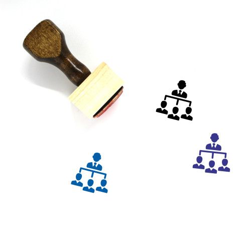 Business Hierarchy Wooden Rubber Stamp No. 22