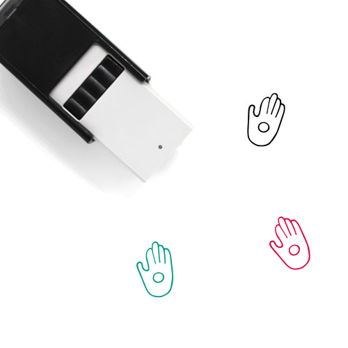 Palm Self-Inking Rubber Stamp No. 166
