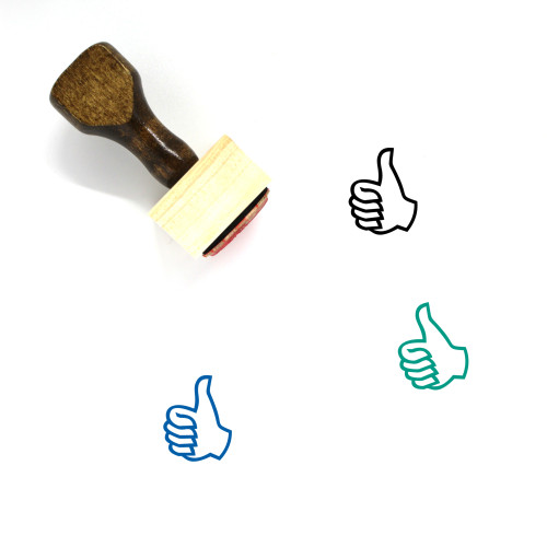 Thumb Wooden Rubber Stamp No. 37