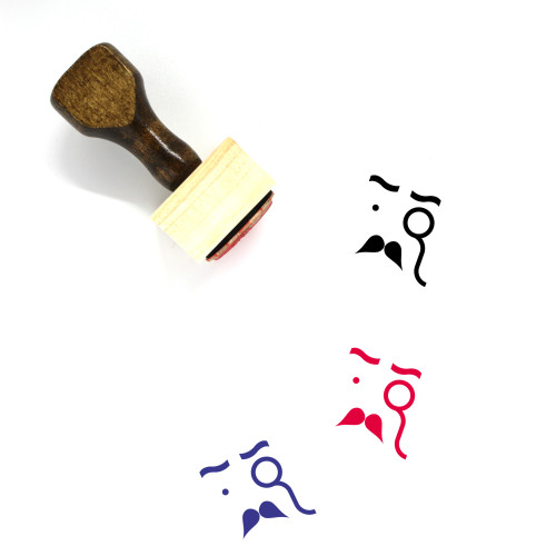 Gentleman Wooden Rubber Stamp No. 16