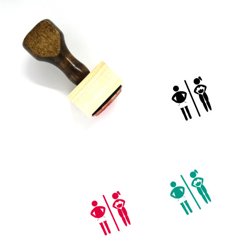 Changing Room Wooden Rubber Stamp No. 8