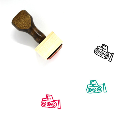 Bulldozer Wooden Rubber Stamp No. 51