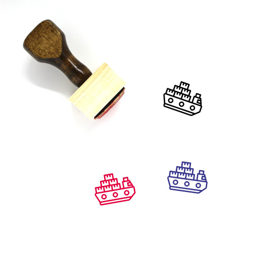 Naval Delivery Wooden Rubber Stamp No. 10