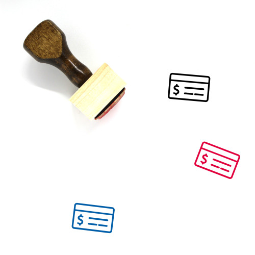 Cheque Wooden Rubber Stamp No. 38