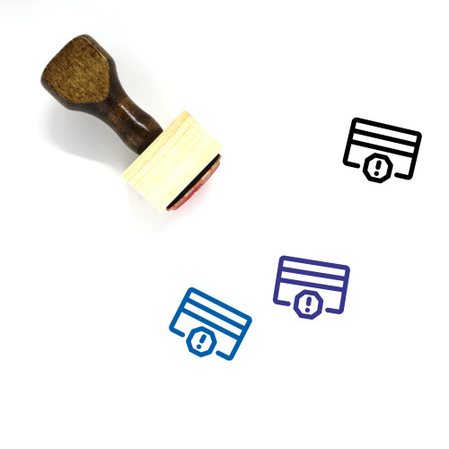 Blocked Card Wooden Rubber Stamp No. 4