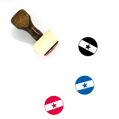 Flag Of Ghana Wooden Rubber Stamp No. 3