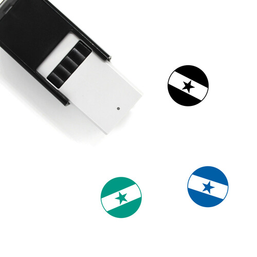 Flag Of Ghana Self-Inking Rubber Stamp No. 3