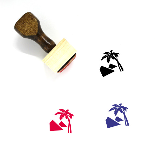 Vacation Wooden Rubber Stamp No. 36