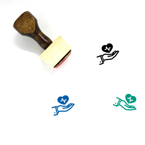 Healthcare Wooden Rubber Stamp No. 108