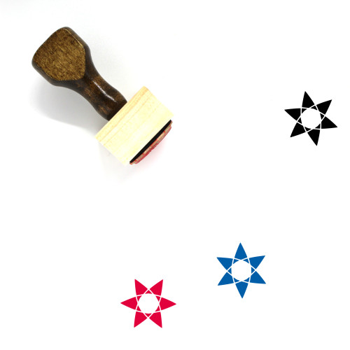 Abstract Flower Wooden Rubber Stamp No. 24