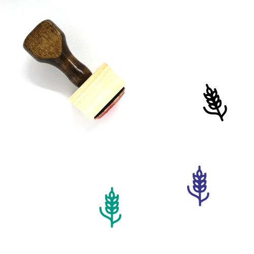 Wheat Wooden Rubber Stamp No. 86