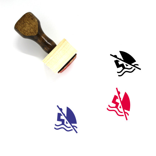No Windsurfing Wooden Rubber Stamp No. 1