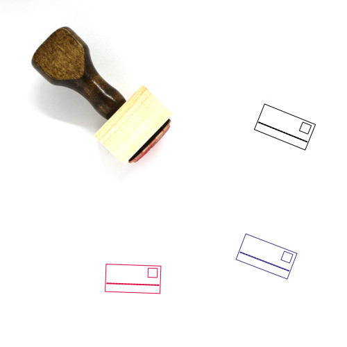 Payment Card Wooden Rubber Stamp No. 33