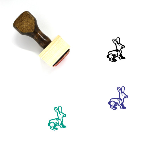 Rabbit Wooden Rubber Stamp No. 279
