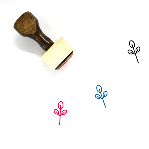 Plant Wooden Rubber Stamp No. 106