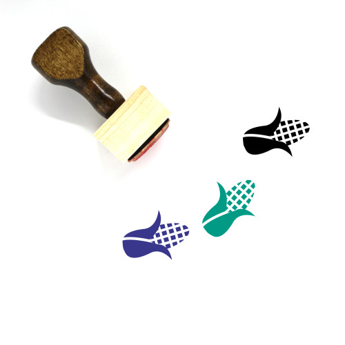 Corn Wooden Rubber Stamp No. 101