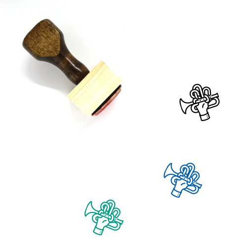 Trumpet Wooden Rubber Stamp No. 56