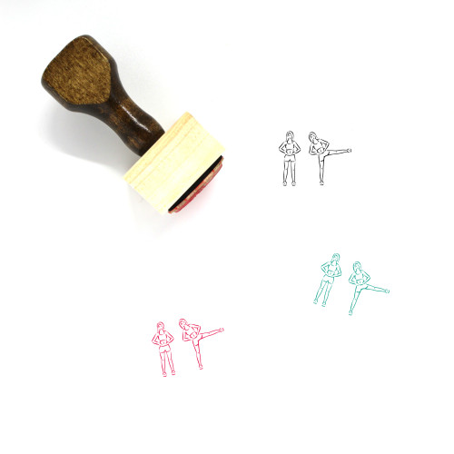 Fitness Exercise Leg Raises Workout Wooden Rubber Stamp No. 1