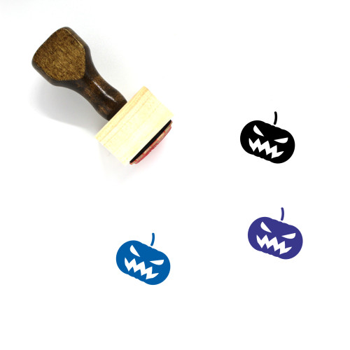 Jack O' Lantern Wooden Rubber Stamp No. 110