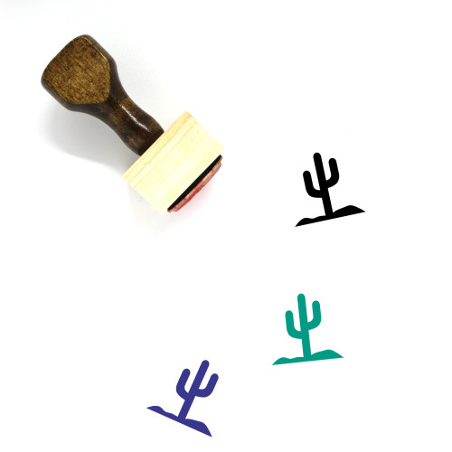 Cactus Wooden Rubber Stamp No. 112