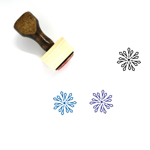 New Years Eve Wooden Rubber Stamp No. 36