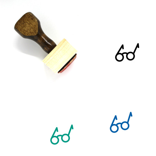 Glasses Wooden Rubber Stamp No. 288