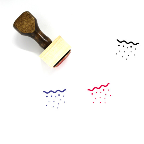 Mineral Water Wooden Rubber Stamp No. 18