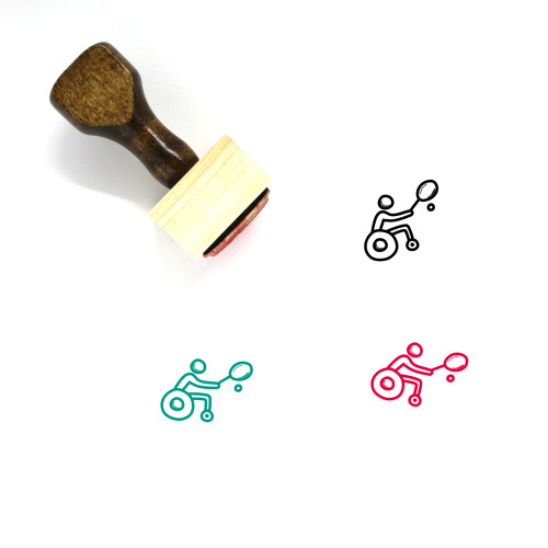 Tennis Wooden Rubber Stamp No. 51