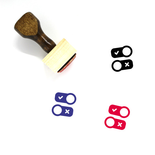 Option Wooden Rubber Stamp No. 120