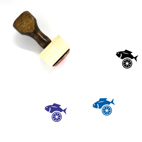 Grilled Fish Wooden Rubber Stamp No. 1
