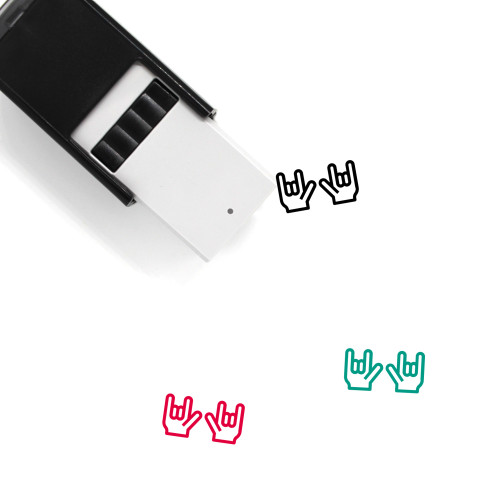 Two Rock Hands Self-Inking Rubber Stamp No. 5