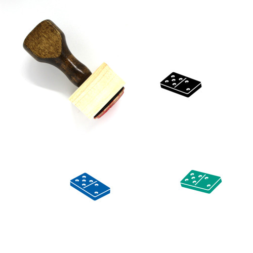Domino Wooden Rubber Stamp No. 157