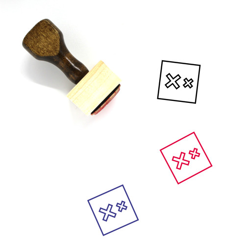 Two X Wooden Rubber Stamp No. 4