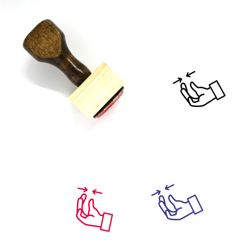 Taking Wooden Rubber Stamp No. 1