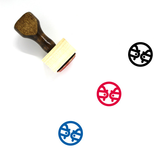Traffic Wooden Rubber Stamp No. 38