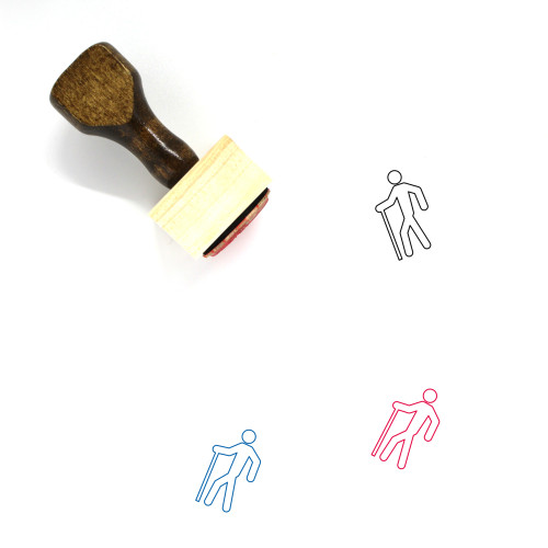 Hiker Wooden Rubber Stamp No. 35